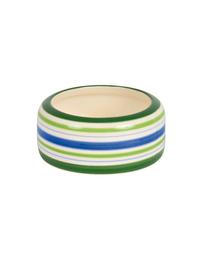 TRIXIE Bol Ceramic verde cu dungi pentru porcușor de guinea 200 ml