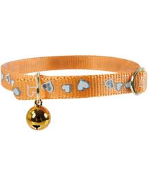 ZOLUX Zgardă reflectorizantă cu inimioare 30 cm portocaliu