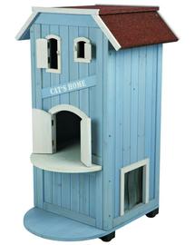 TRIXIE Căsuță pentru pisici 56 x 94 x 59 cm. Albastru