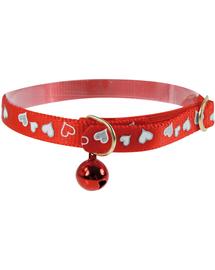 ZOLUX Zgardă reflectorizantă cu inimioare 30 cm roșu