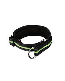 TRIXIE Zgardă reflectorizantă M 40–46 cm / 30 mm negru-verde