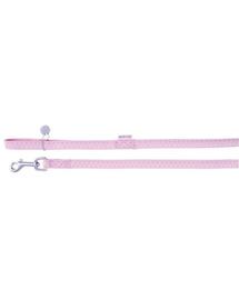 ZOLUX Lesă Mac din piele 25 mm / 1.2 M roz