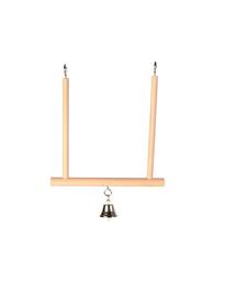 TRIXIE Leagăn din lemn cu clopoțel 12 x 13 cm
