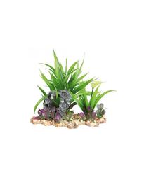 TRIXIE Plantă din plastic în pietriș 28 cm pentru acvariu