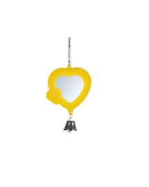 TRIXIE Oglindă-inimioară cu clopoțel