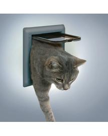 TRIXIE Ușă pentru pisici clasic gri