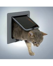TRIXIE Ușă pentru pisici de luxe gri