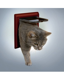 TRIXIE Ușă pentru pisici clasic maro