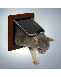 TRIXIE Ușă pentru pisici de luxe maro