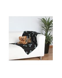 TRIXIE Pătură 100 x 70 cm negru cu oase gri