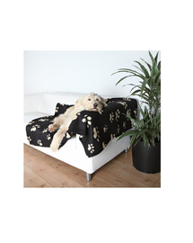 TRIXIE Pătură barney 150 x 100 cm negru cu paws