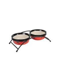 TRIXIE Boluri ceramice pe suport 250 ml/12.5 cm roșu