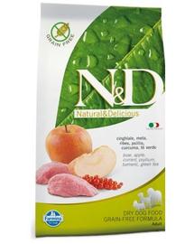FARMINA N&D Adult mistreț & măr 2.5 kg
