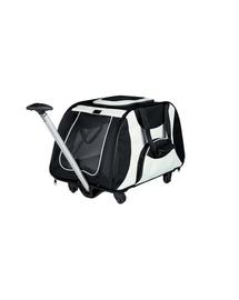 TRIXIE Geantă de transport cu mâner și roți 34 x 43 x 67 cm negru și gri