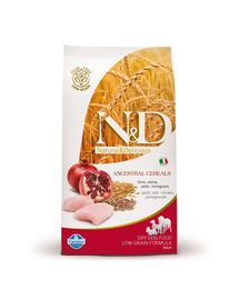 FARMINA N&D Dog Low-Grain cu pui și rodie 2.5 kg