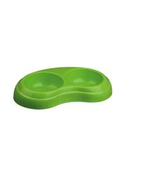 TRIXIE Bol plastic greu dublu 2 x 0.2 l/ dia. 10 cm