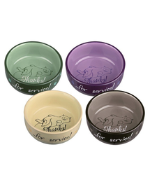 TRIXIE Bol Ceramic Thanks For Service 0.3 l / o 11 cm