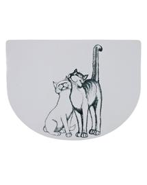 """TRIXIE Covoraș suport pentru boluri """"Pussy Cat"""" 40x30 cm semirotund"""