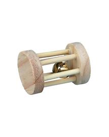 TRIXIE Jucărie din lemn cilindru pentru rozătoare 3,5 cm x 5 cm