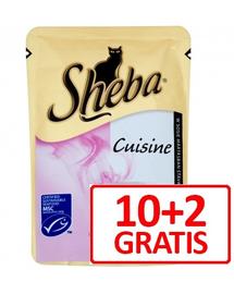 SHEBA Cuisine cu somon în sos 85 g x 10 + 2