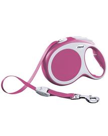 FLEXI Lesă Vario S bandă 5 M roz