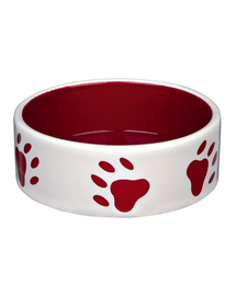 TRIXIE Bol Ceramic cu imprimeu lăbuțe 1.4 L