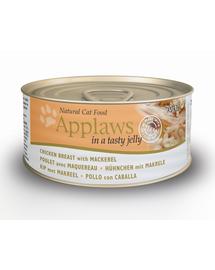 APPLAWS Hrană umedă cu piept de pui și macrou 70 g