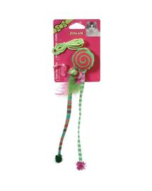 ZOLUX Jucărie Candy Toys cu iarba-mâței și zdrăngănitoare verde