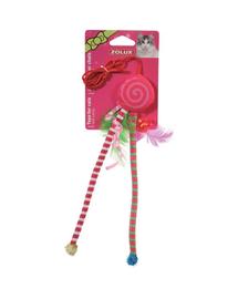 ZOLUX Jucărie Candy Toys cu iarba-mâței și zdrăngănitoare roșu
