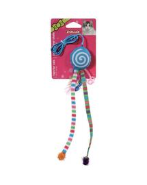 ZOLUX Jucărie Candy Toys cu iarba-mâței și zdrăngănitoare albastru