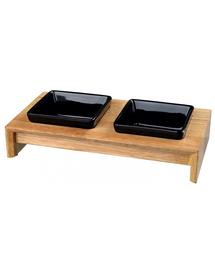TRIXIE Set boluri ceramice/lemn 2× 0.2 L