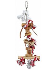 TRIXIE Jucărie din lemn cu sfori 35 cm