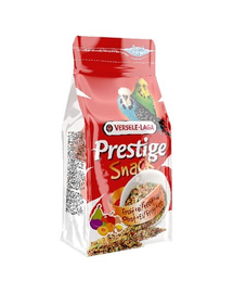 VERSELE LAGA Prestige Snack Budgies 125 g Gustare cu biscuiți și fructe pentru peruși