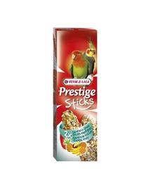 VERSELE LAGA Prestige Sticks Big Parakeets Exotic Fruit 140 g Gustare cu fructe exotice pentru papagali mari