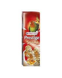 VERSELE LAGA Prestige Sticks Big Parakeets Nuts&Honey 140 g Gustare cu miere și nuci pentru papagali mari