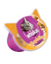 WHISKAS Hrană umedă pentru pisici Temptations pui brânză 60 g