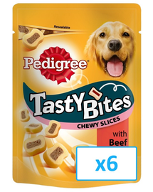 PEDIGREE Tasty Bites Chewy Slices 6x 155 g