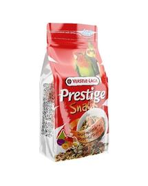 VERSELE LAGA Prestige Snack Parakeets 125 g Gustare cu biscuiți și fructe pentru papagali medii