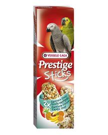 VERSELE LAGA Prestige Sticks Parrots Exotic Fruit 140 g Gustare cu fructe exotice pentru papagali mari