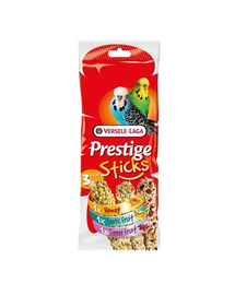 VERSELE LAGA Prestige Sticks Budgies Triple Variety Pack 90 g Mix 3 snackuri pentru papagali