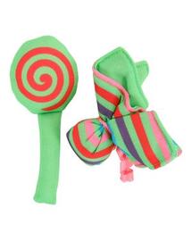 """ZOLUX Jucărie pentru pisici Candy Toys """"Flori și bomboane"""" cu iarba-mâței culoare verde"""