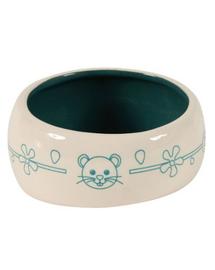 ZOLUX Bol Ceramic pentru rozătoare - împiedică scurgerea apei și hranei 1 L culoare blue