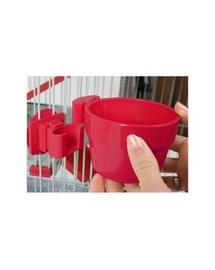 ZOLUX Bol plastic suspendat dia. 9,5 cm culoare roșu