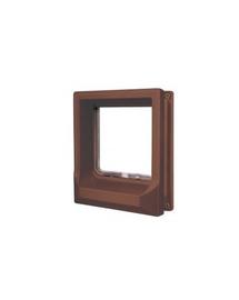 ZOLUX Ușițe pentru pisici pentru ușă de lemn cu închidere magnetică - maro