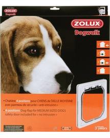 ZOLUX Ușițe 4-poziții pentru câini de talie medie - alb