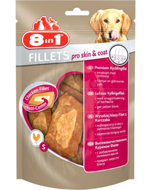 8IN1 Gustări Fillets Pro Skin & Coat 80 g