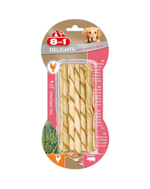 8IN1 Delights Pork Twisted Sticks 10 buc.