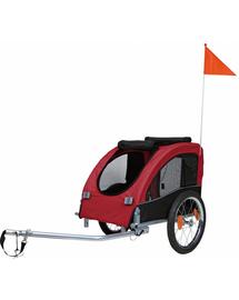 TRIXIE Remorcă bicicletă 45×48×74 cm negru și roșu