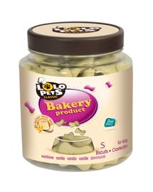 LOLO PETS Cookies pentru câini oase S vanilie 210 g