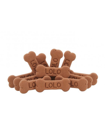 LOLO PETS Biscuiți in formă de os L - cu aromă de ciocolată 17kg